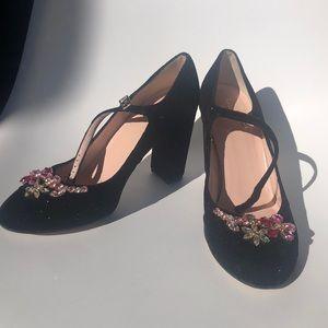 Kate spade glitter rhinestone baby Jane heels